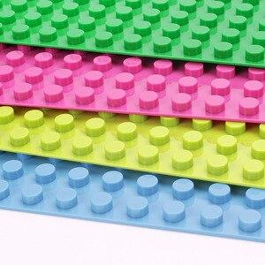 Image 4 - Legoing duploed gran tamaño placa base parte de abajo amplia bloques de construcción ladrillos 16*32 puntos 51*25,5 cm compatible con animales duploed juguetes para niños