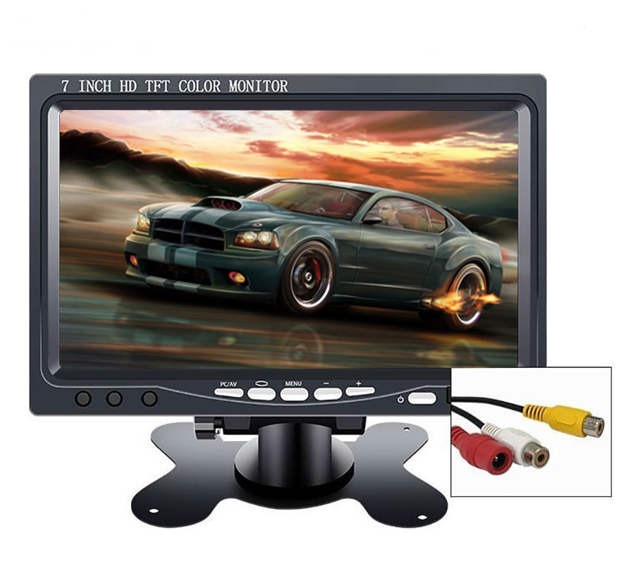 "10.1"" monitor 1024*600 2 AV Input for Car Reverse Rearview Camera CCTV mini lcd portable screen display small 7 inch Monitor pc(China)"
