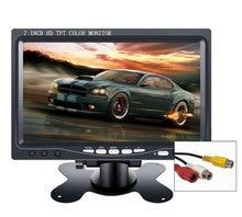 """Monitor 10.1 """"1024*600 2 av entrada para carro, câmera de retrovisor portátil cctv mini lcd pequeno monitor de 7 polegadas pc"""
