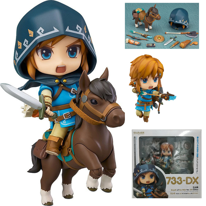 Zelda Figure Breath Of The Wild Nendoroid 733 DX  Edition Deluxe Version  Action Figure Collectible Model Toys Dolls Gift