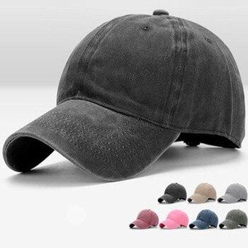 Unisex Washed Denim Baseball Cap Women Adjustable Cotton Bone Snapback Hats Distressed Jeans Dad Hat Hip Hop Caps for Men