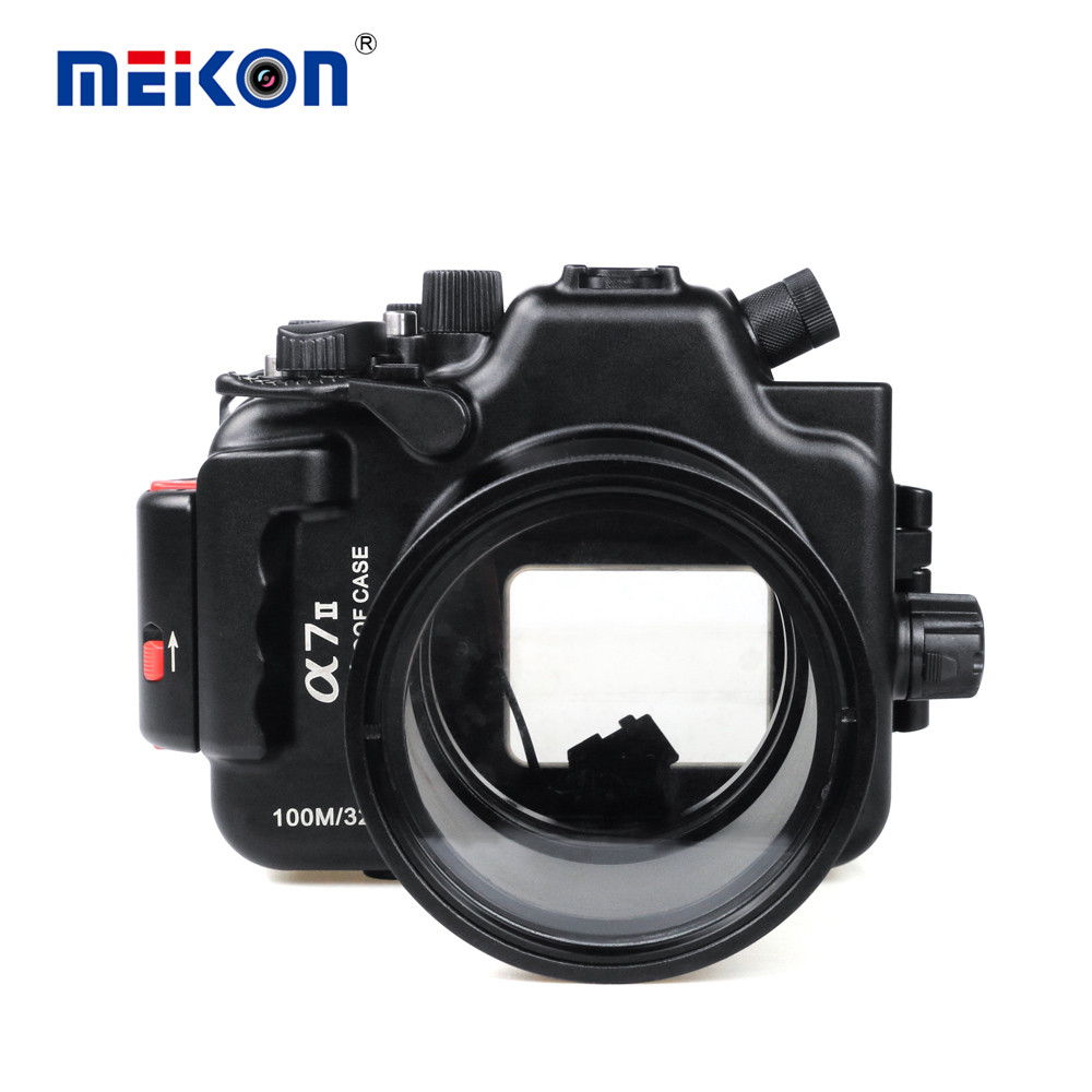 Aluminum alloy Underwater Diving Case for Sony A7 II A7R II A7S II Waterproof Camera Housing 325ft/100M Photo Bag 1pc