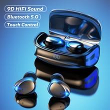 سماعات لاسلكية سماعات بلوتوث سماعات مقاومة للماء سماعات يدوي بكلتا الأذنين إلغاء الضوضاء لجميع الهواتف الذكية