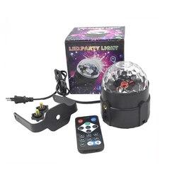 Oświetlenie dyskotekowe led światła sceniczne DJ kula dyskotekowa aktywowany dźwiękiem projektor laserowy efekt lampy światło muzyka Christmas Party urodziny