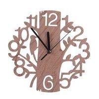 2018 New Design Wooden Tree Shape Clock Wall Simple Wooden clock|Wall Clocks| |  -