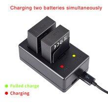 PALO D'origine 3.7V 1600 mAh Batteries Pour GoPro Hero3 Batteria LED Double Chargeur AHDBT-301 Caméra D'action Accessoire