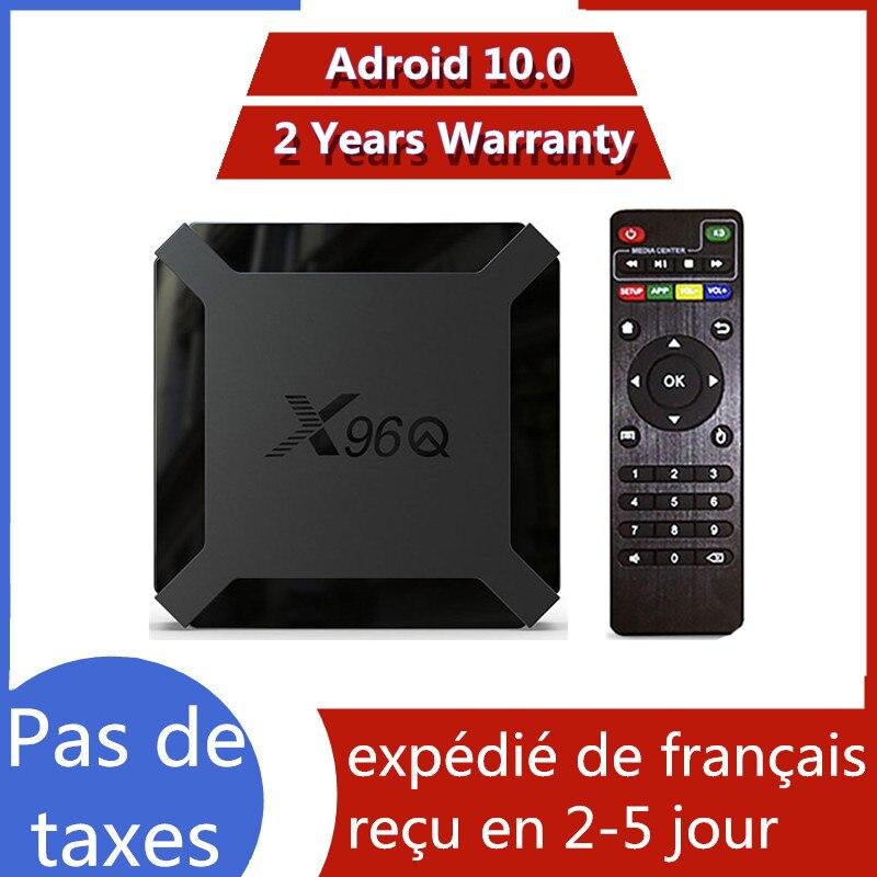 Best x96q Android 10.0 tv box iptv box Allwinner H313 1G 8G 2G 16G X96 Q neo tv pro Mail-G31 MP2 smart ip tv set top box