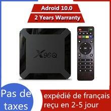Melhor x96q android 10.0 caixa de tv iptv allwinner h313 1g 8g 2g 16g x96 q neo tv pro Mail-G31 mp2 inteligente ip tv conjunto caixa superior