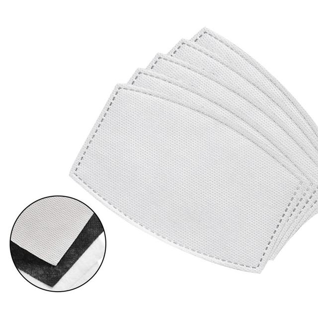 10/20/50/100pcs Adults Children  Mask Filter Paper Mask Filter Gasket Replacement Face Cover Accessory 1