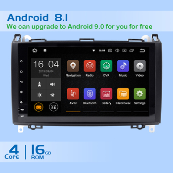 AutoRadio 2 Din Car Multimedia Player For Mercedes Sprinter Benz B200 B-class Viano Vito W639 W169 B170 W245 W209 GPS Navigation image