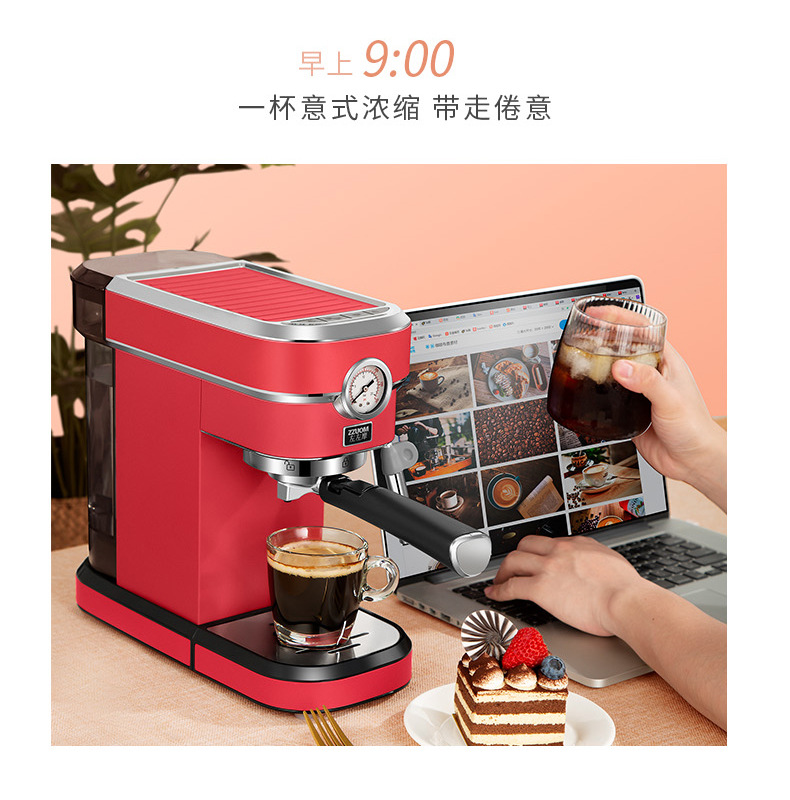 H77278f39b1bc454db3118104eb45fd07p - 2020 Neue 15Bar Espresso Machine Stainless Steel Body Memory Function Home Use Fully Automatic Milk Frother Kitchen Appliances