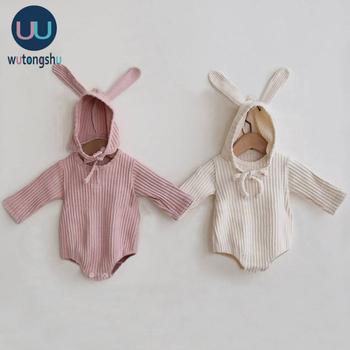 Niemowlę noworodek chłopiec dziewczyny body wiosna bawełna długie rękawy jednoczęściowe kombinezony chłopięce dla niemowląt bawełna dziewczynka ubrania stroje tanie i dobre opinie Wutongshu COTTON CN (pochodzenie) Unisex W wieku 0-6m 7-12m 13-24m Stałe baby O-neck Swetry Pajacyki Pełna baby clothes