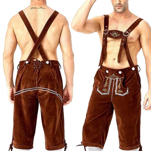 Men's Bavarian Lederhosen Beer Costume
