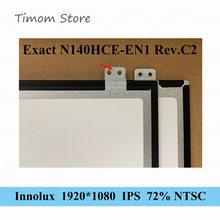 Точный оригинальный Innolux для ноутбука Lenovo, версия C2, C4, ЖК-дисплей со светодиодной подсветкой FHD 14,0*1920, IPS, 30-контактный тонкий матовый дисплей ...