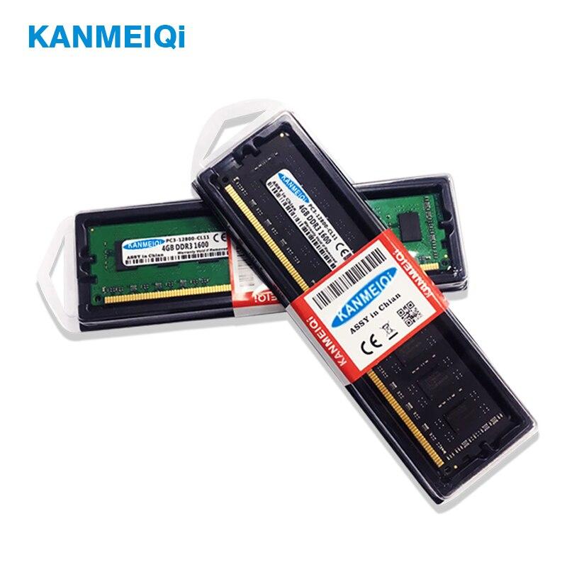KANMEIQi DDR3 2GB/4GB/8GB 1333mhz/1600MHz Desktop RAM Memory 5
