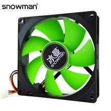 SNOWMAN-ventilador silencioso de 90mm, ventilador con cubierta de ordenador de 3 pines, 92mm, 9CM, ventilador de refrigeración de CPU, ventilador con cubierta de 12V, radiador para chasis de CC
