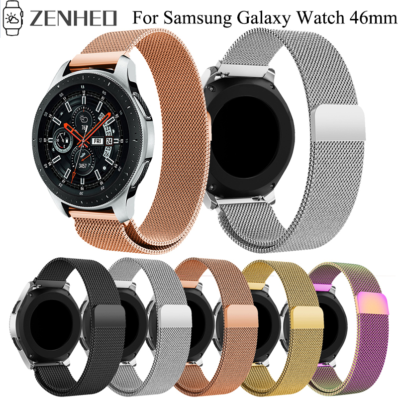 22mm Milanese Magnetic Loop Watchband For Samsung Galaxy Watch 46mm Stainless Steel Strap For Samsung Gear S3 Classic Frontier