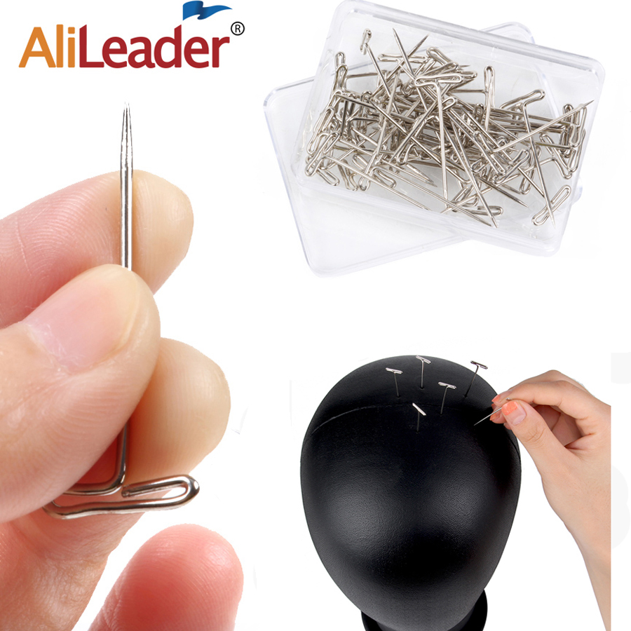 Wigs Hair-Needles Styling-Tool Sewing Good-Quality Alileader Tpins Making/Display Silver