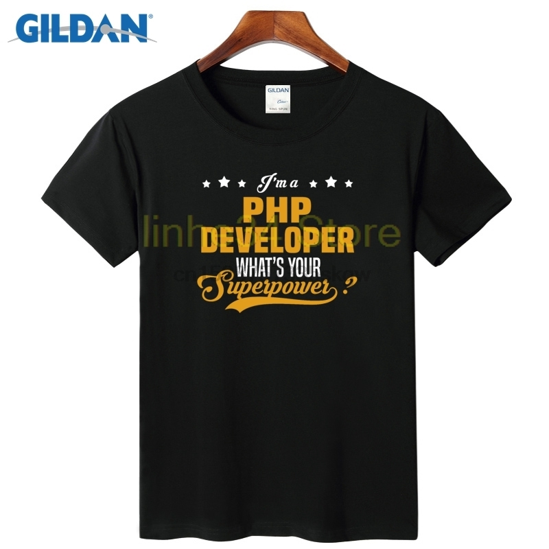 Php Developer Is Awesome Designer Round Neck T-Shirt For Men Red Shirt For Men Soft Plain Tee Shirt For Men Cotton Simple