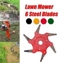 Garden Toothed Mower Blade Six-leaf Grass Head Carbide Durable for Agricultural  Cutter Tool Trimmer