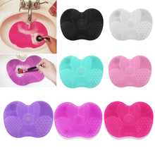 Silicone Makeup Brush Cleaning Pad Mat Brush Washing Tools Cosmetic Eyebrow Brushes Cleaner Tool Scrubber Board Makeup Cleaning makeup brush cleaner finger silicone glove cosmetic cleaning tool page 2
