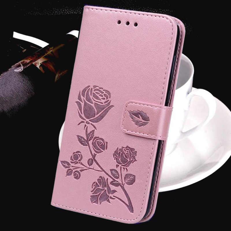 Gedruckt 3D Blume Leder Geldbörse Fall für China Mobile A3S Luxus Magneti Karte Halter Brieftasche Abdeckung für China Mobile A3S