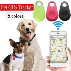 Smart Dog Pet GPS Tracker Anti-lost Alarm Tag Wireless Locator Bag Cat Child Tracker Key Bluetooth Finder Anti Lost Alarm W A6F7