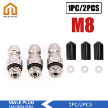 Male-Plug PCP Air-Socket for Connection M8x1-Thread 8MM Quick-Coupler Stainless-Steel