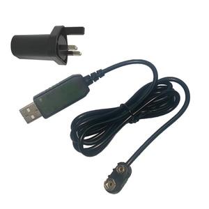 Image 5 - 9V סוללה Eliminator USB כבל 5V דחיפה 9V מתח ממיר צעד למעלה שנאי וולט DC כוח רגולטור קו עבור מודד