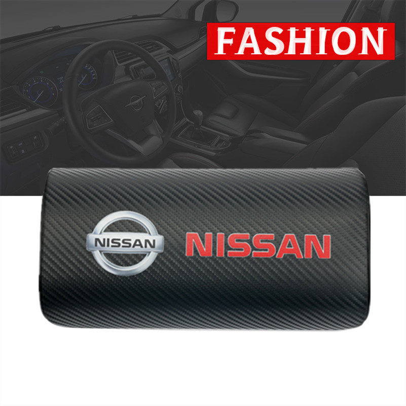 Brand New Car Styling For Nissan Nismo X-trail Qashqai Tiida Teana Juke Car Neck Pillows Both Side Pu Leather Single Headrest