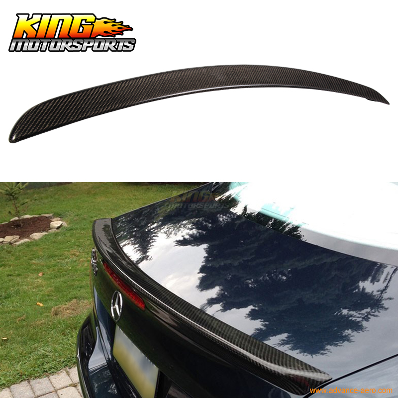 Fit For 2003-2008 Benz CLK-Class <font><b>W209</b></font> 2Dr AMG Trunk <font><b>Spoiler</b></font> - Carbon Fiber CF USA Domestic Free Shipping image