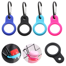 Carabiner Hook-Accessories Buckle Water-Bottle-Holder Sports-Kettle Camping Hiking Rubber