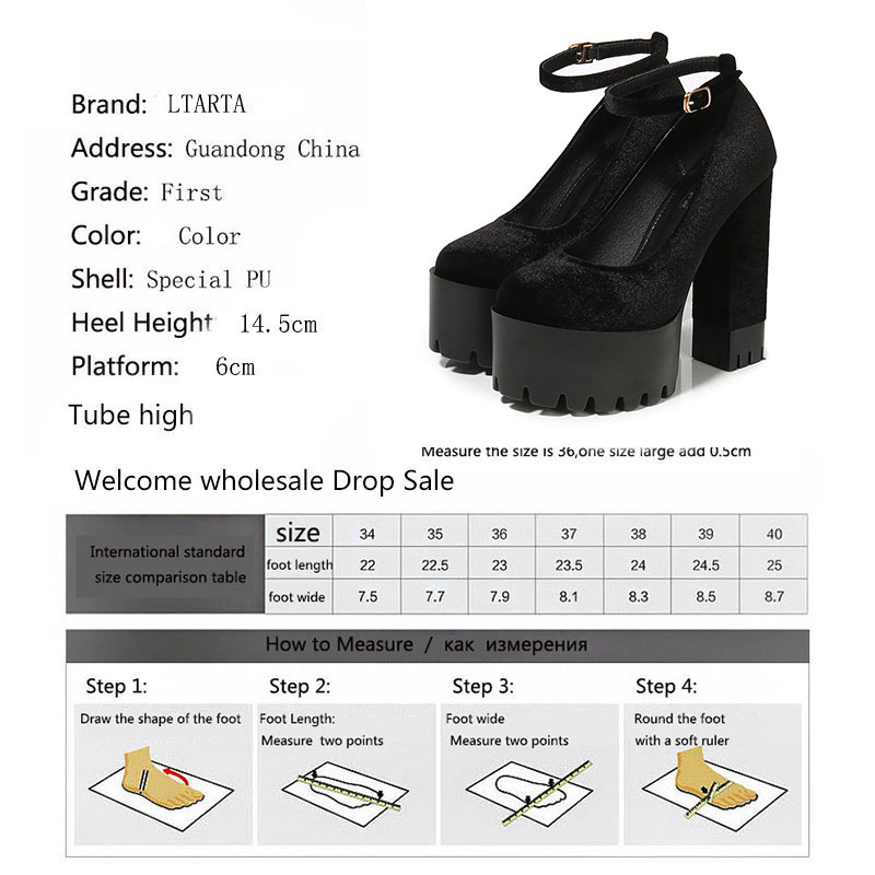 Image 5 - COWCOM  Womens Shoes 15CM Super High heeled Shoes  Waterproof Platform  Catwalk Show Single Shoes Women Sandals ZYW 1317 2High Heels   -