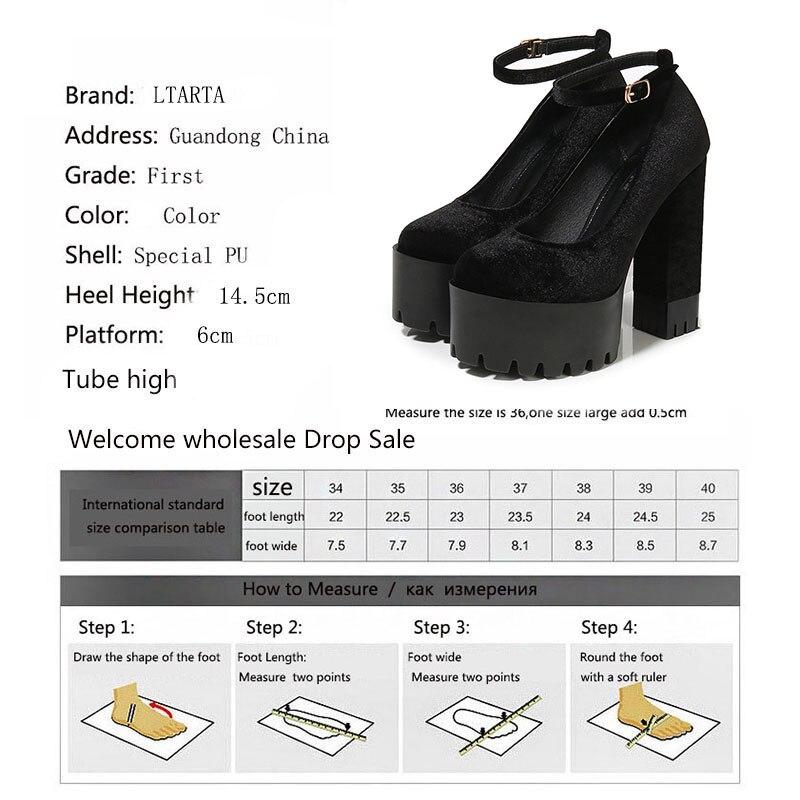 Image 5 - COWCOM buty damskie 15CM Super buty na wysokim obcasie wodoodporna platforma Catwalk pokaż pojedyncze buty damskie sandały ZYW 1317 2Wysokie obcasyButy -