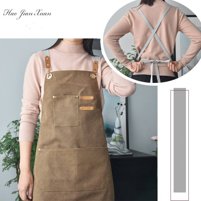 Unisex Canvas Kitchen Aprons For Home Chefs 5