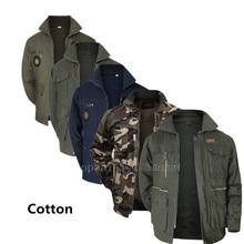Jaqueta militar dos homens de algodão carga camuflagem tática multicam combate uniformes bombardeiro macio do exército dos eua ao ar livre workwear airsofts