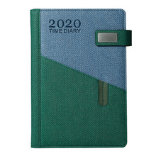 365 Days Month Schedule Notebook Imitation Leather A5 2020 Planner Diary Stationery for Man Woman Student (Dark Green)