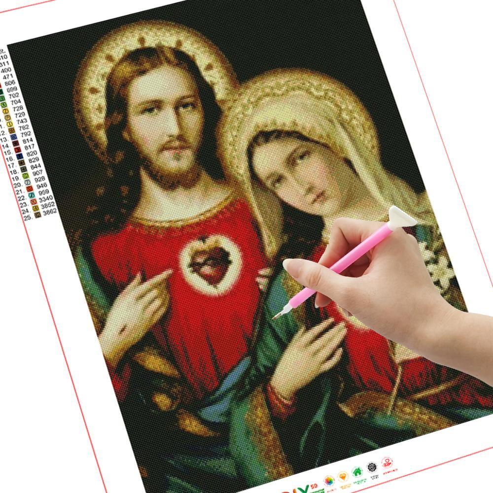 Новая религиозная Алмазная вышивка «сделай сам» с Иисусом полная