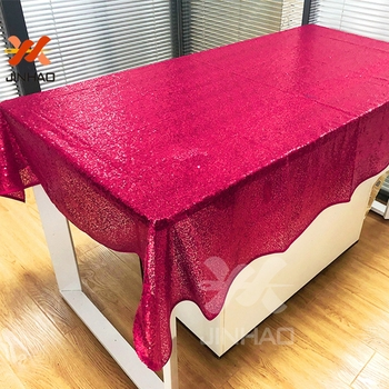The Rectangle Sequin Tablecloths for Wedding Or Party Christmas Decorations For Home