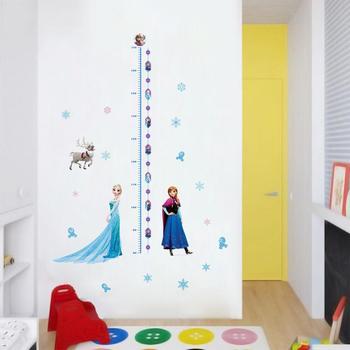 Cartoon Princess Elsa Wall Stickers for Kids Rooms Girls Bedroom Poster Vinyl DIY Mural Art Adesivo de parede Decal Baby Nursery 23