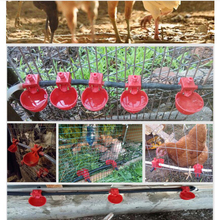 10Pcs Bird Cage Chick Coop Feed Quail Drinking Cups Chicken Water Bowl Pigeons Automatic Water Feeder Farm Animal Tool