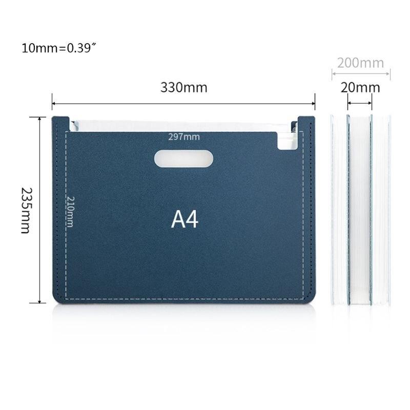 13 Pockets Expanding File Folder A4 Organizer Document Paper Storage Holder School Office Supplies