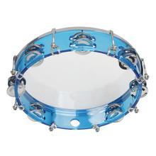 Self-tuning Round Musical Tambourine Blue Percussion Drum For Party Activities Children Toy Musical Instrument цены