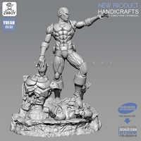 1/24 Kits de figuras de resina Iron Man y Ultron resina soldado modelo auto-ensamblado 75MM TD-202014