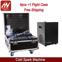 6pcs Cold flame Fireworks Stage Fountain Safe Spark Fireworks Machine indoor For Wedding Party