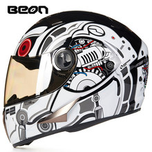 BEON Motorcycle Helmet Men Motocross Helmet Casco Moto Moto Full Face Retro Scooter Helmets Motorbike Riding Helmet