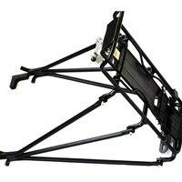 Mountain Bike Rear Pannier Cargo Rack Aluminium School Bag Luggage Frame Carrier Holder Accessories For V Disc Brake Bicycle