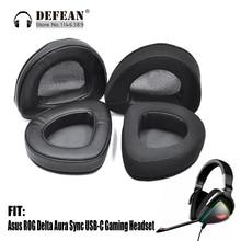 Coussin de remplacement pour oreillettes pour casque de jeu Asus ROG Delta Aura Sync USB C