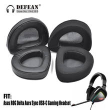 Replacement Ear pads cushion for Asus ROG Delta Aura Sync USB C Gaming Headset