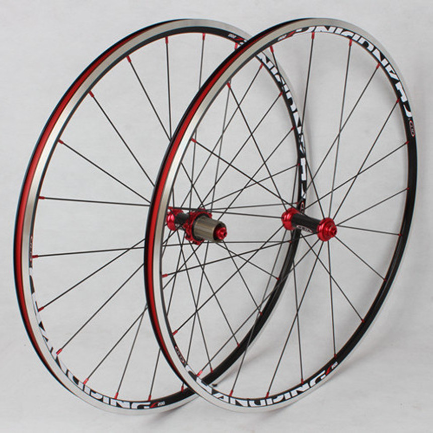 MEROCA C200 700C fibre de carbone route vélo roues jante tambour 6 griffes 120 anneau scellé roulement roues course roues jantes